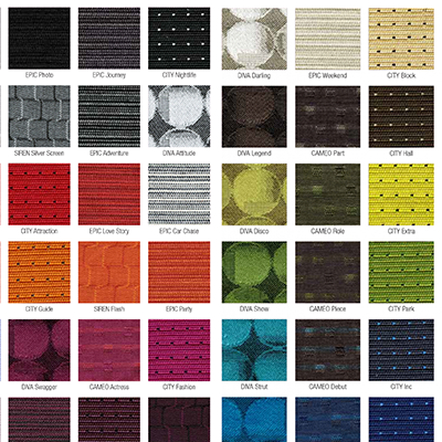 Woodshop Colour Charts & Fabric Ranges